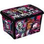 Caixa Orgnizadora Decora Monster High 46 Litros Plasútil