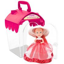 Casa Cupcake Morango Boneca Casinha Infantil Menina Estrela