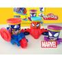 Conjunto Massinha Play-doh Marvel Can-heads Veículos Hasbro