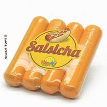 Brinquedo Madeira- Linha Comidinha- Salsichas 04pç