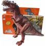 Dinossauro Eletronico 3d Led Anda Sozinho Faz Som