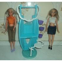 Brinquedo Antigo Salão De Beleza, Barbie E Susi (b2)