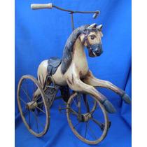 Velocipede Ingles De 1880 Cavalo De Madeira E Ferro Brinqued