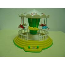 Brinquedo Antigo Carrossel Com Aviões Da Elka