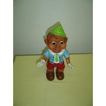 Brinquedo Antigo Boneco Pinocchio Em Vinil Colorido Anos 60