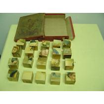 Brinquedo Antigo-quebra Cabeça- Em Cubos 6 Figuras P/ Montar