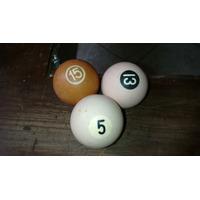 3 Bolas De Bilhar Antigas