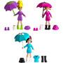 Estações Da Polly Diversão Na Chuva Pocket - Mattel