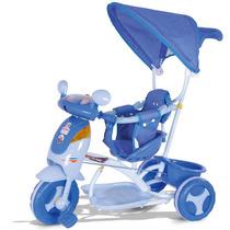 Carrinho Bebê Evolution Azul Som E Luz Cotiplás Promoção
