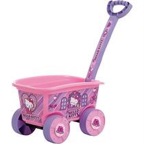 Brinquedo Carrinho Empurrar Wagon Hello Kitty Multibrink
