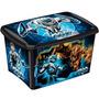 Caixa Organizadora Decora Max Steel 46 Litro Menino Plasútil