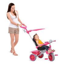 Carrinho Bebe Triciclo Smart Comfort Passeio Rosa Bandeirant