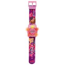 Relógio Polly Com Tampa De Luzes Brilhantes - Fun