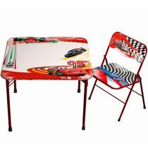Mesa Com Cadeira Infantil Disney Cars Carros Fun Spaces