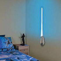 Star Wars Lightsaber Luminária Controle Remoto Som, 9 Cores