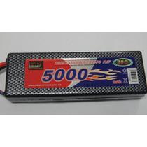 Bateria Lipo 2s 7.4v 5000mah 30c Hard Case Conector T-plug