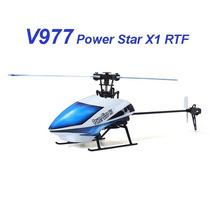Helicóptero V977 Power Star X1 6ch 2.4g C/ Atualização V2