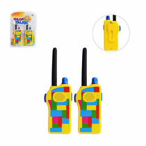 Rádio Walk Talk Walkie Talkie Infantil Amarelo