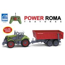 Trator De Controle Remoto Power Roma Basculante 1762 - Ro...