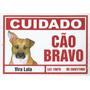 Placa Vira Lata Srd Cuidado Cão Bravo - Frete Grátis!