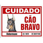 Placa De Advertência. Doberman. Frete Gratis Todo Brasil