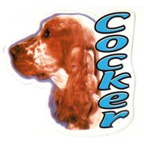 Adesivo Cão Cocker, Alta Resolução, Frete Grátis+ Promoção!!