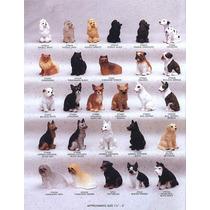 Cães De Raça 3 Miniaturas Esculturas Perfeitas Frete Grátis