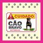 Placa Advertência Cuidado Cão Bravo Várias Raças Rottweiler