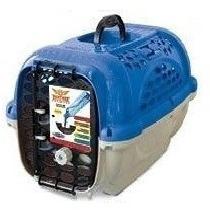 Caixa De Transporte Para Cães E Gatos C/ Bebedor - Plast Pet