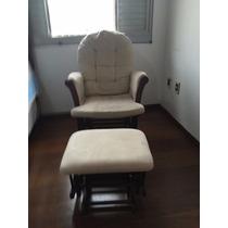 Cadeira De Amamentação C/ Balanço E Apoio Para Os Pés