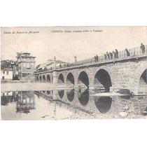 Cartão Postal Chaves Portugal Ponte Romana Sobre O Tamega