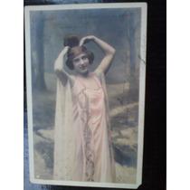 2 Cartões Postais Romanticos De Mulheres Da Época