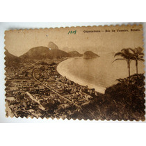 Rio De Janeiro Cartão Postal 1909 Copacabana Panorama