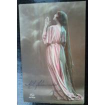 2 Cartões Postais Romantico Antigo De Mulheres