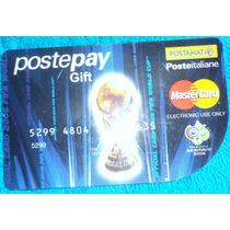 Cartão De Cred Da Itália C/ Tarça Da Copa Do Mundo P/ Colec