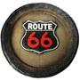 Placa Route 66 Em Fibra - Pague Com Cartão