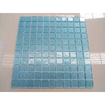 Pastilhas De Vidro Cristal Glitter Azul