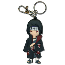 Chaveiro Naruto Chibi Itachi Sd Brasão Akatsuki Ge3872