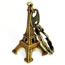 Kit 12 Chaveiros Torre Eiffel Paris Bronze França Metal