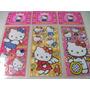 Hello Kitty Kit Cartela Adesivo Stickers C/ 12 Cartelas