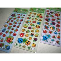 Joaninhas Kit Adesivo Stickers C/ 12 Cartelas