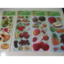 Frutas Kit Cartela Adesivo Stickers C/ 12 Cartelas