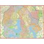 Mapa Gigante Da Zona Sul De São Paulo - Tamanho 1,20 X 0,90m