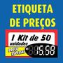 Etiqueta De Preço Gondola - 50 Unidades