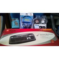 Kit- Teclado Ps/2 - Mouse Usb - Caixa Som Usb - Fone Headset