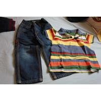 Conjunto Camisa E Calça Jeans Ralph Lauren - Tam 3