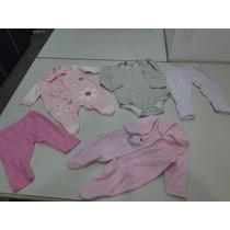 Lote De Roupas Infantil - 16 Peças - Feminino - 0 A 1 Ano
