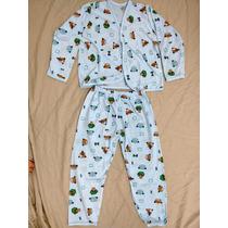 Pijama Infantil Masculino Em Algodão Tamanho Xg 4-5 Anos