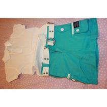 Conjunto Ralph Lauren Com Short E Camiseta Tam 5 - Novo
