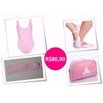 Roupa Kit Ballet Infantil - Kit Com Bolsa